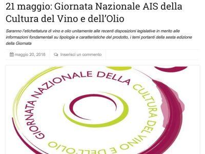 Newsfood –  sesta Giornata Nazionale AIS, Cultura del Vino e dell'Olio, tra gli ospiti anche Simonetta Doni