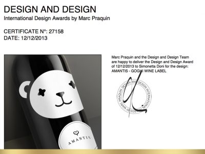 Design and Design Awards 2013 – Premio a Doni & Associati per Amantis
