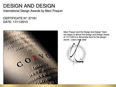 Design and Design Awards 2013 – Premio a Doni & Associati per Cecchi
