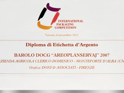 International Packaging Competition 2012 – Doni & Associati vince l'Etichetta d'Argento per Domenico Clerico