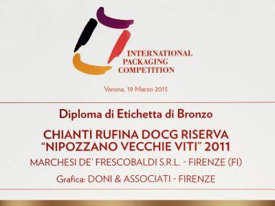 International Packaging Competition 2015 – Doni & Associati vince l'Etichetta di Bronzo per Frescobaldi