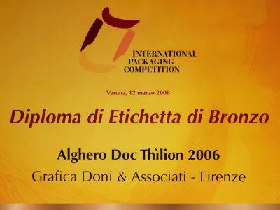 International Packaging Competition 2008 – Doni & Associati vince l'Etichetta di Bronzo per Sella e Mosca