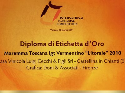 International Packaging Competition 2011 – Doni & Associati vince l'Etichetta d'Oro per Cecchi