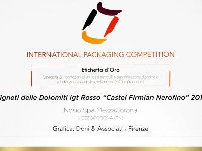 International Packaging Competition 2016 – Doni & Associati vince l'Etichetta d'Oro per Mezzacorona