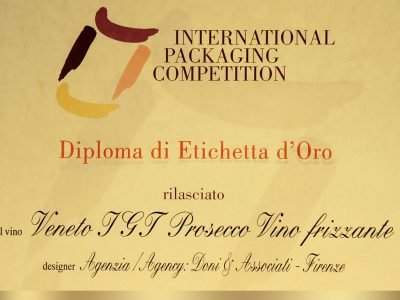 International Packaging Competition 1997 – Doni & Associati vince l'Etichetta d'Oro per Zonin